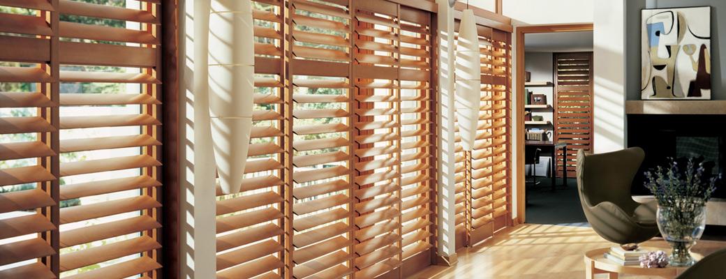 wooden venetian shutters